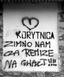 hasło; graffiti; slogan